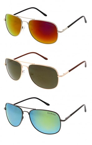 Polarized Square Aviator Wholesale Sunglasses