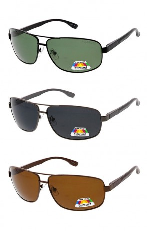Polarized Square Wrap Aviator Wholesale Sunglasses