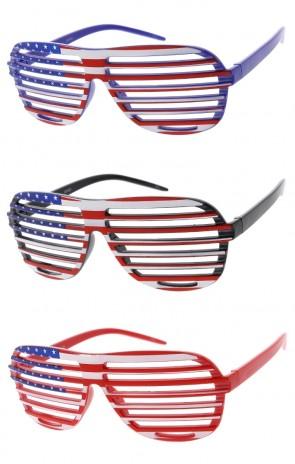 067f057817f Wholesale Novelty Glasses Shutter Shades Patriotic