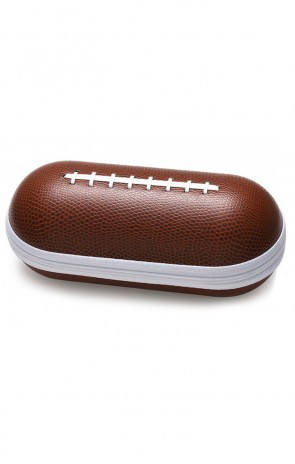 Eyewear Accessories CASE-203FB Football Faux Pigskin Zipper Clam Shell Case
