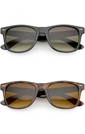Classic Horn Rimmed Gradient Lens Wholesale Sunglasses