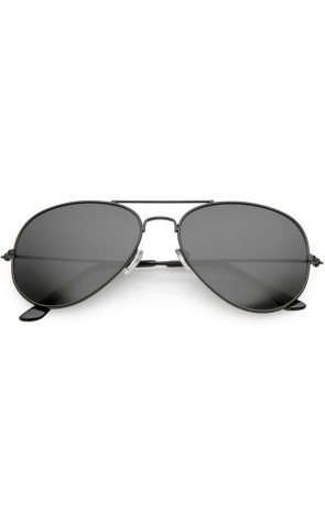 Small Classic Metal Frame Aviator Super Dark Lens Wholesale Sunglasses