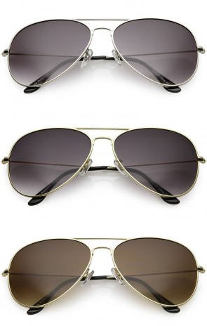 Large Classic Metal Frame Aviator Gradient Lens Wholesale Sunglasses
