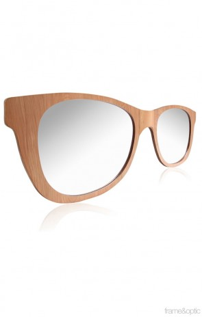 Oversized Retro Sunglasses Mirror-05 Wall Mirror - Natural