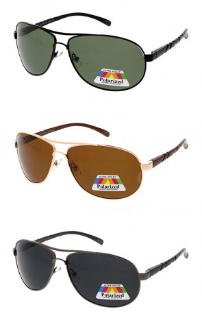 Polarized Aluminum Square Aviator Wholesale Sunglasses