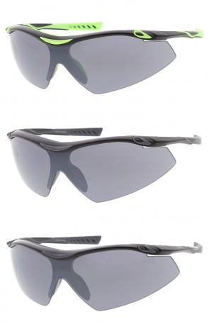 Shield Sports Wrap Wholesale Sunglasses Neutral Colored Lens