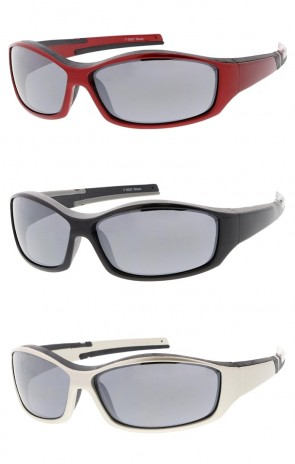Sports TR-90 Wrap Rectangle Wholesale Sunglasses Neutral Colored Lens