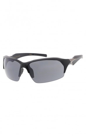 TR-90 Semi Rimless Sports Wrap Sunglasses Rectangle Lens