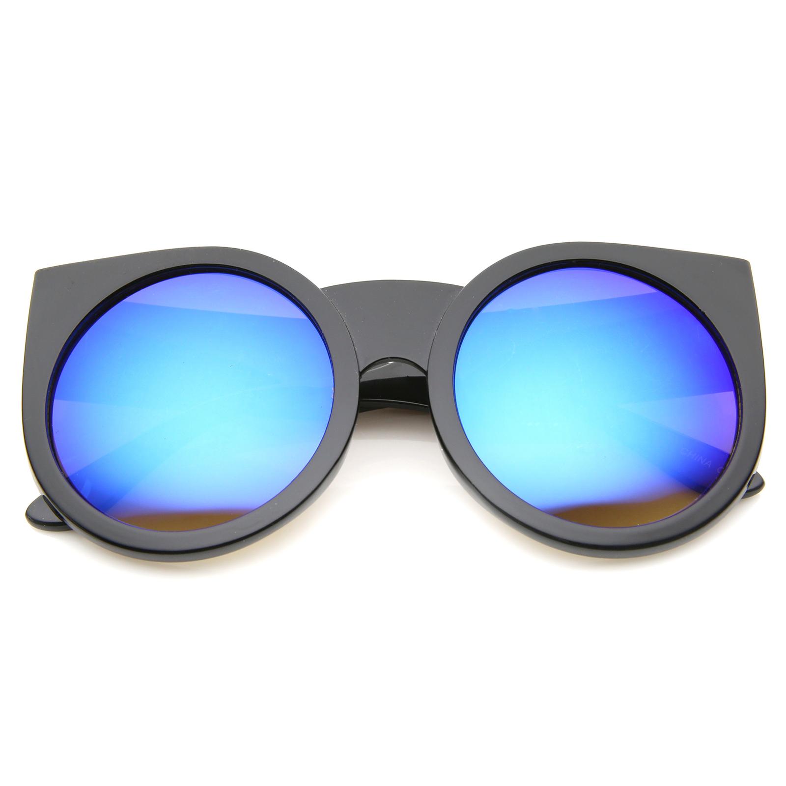 sunglass.la Damen Dicke Rahmenfarbe verspiegelte Linse rund   eBay