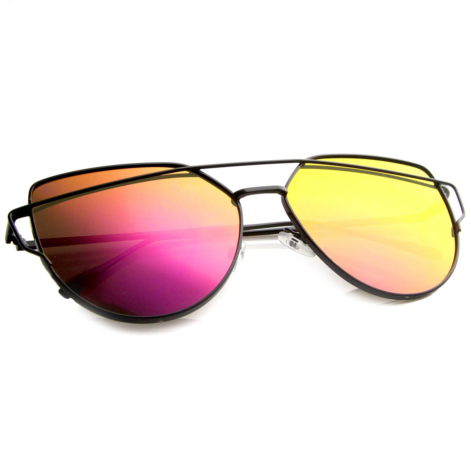 sunglassla Damen Retro Bold farbig Spiegel überdimensional rund Sonnenbrille PwCKh