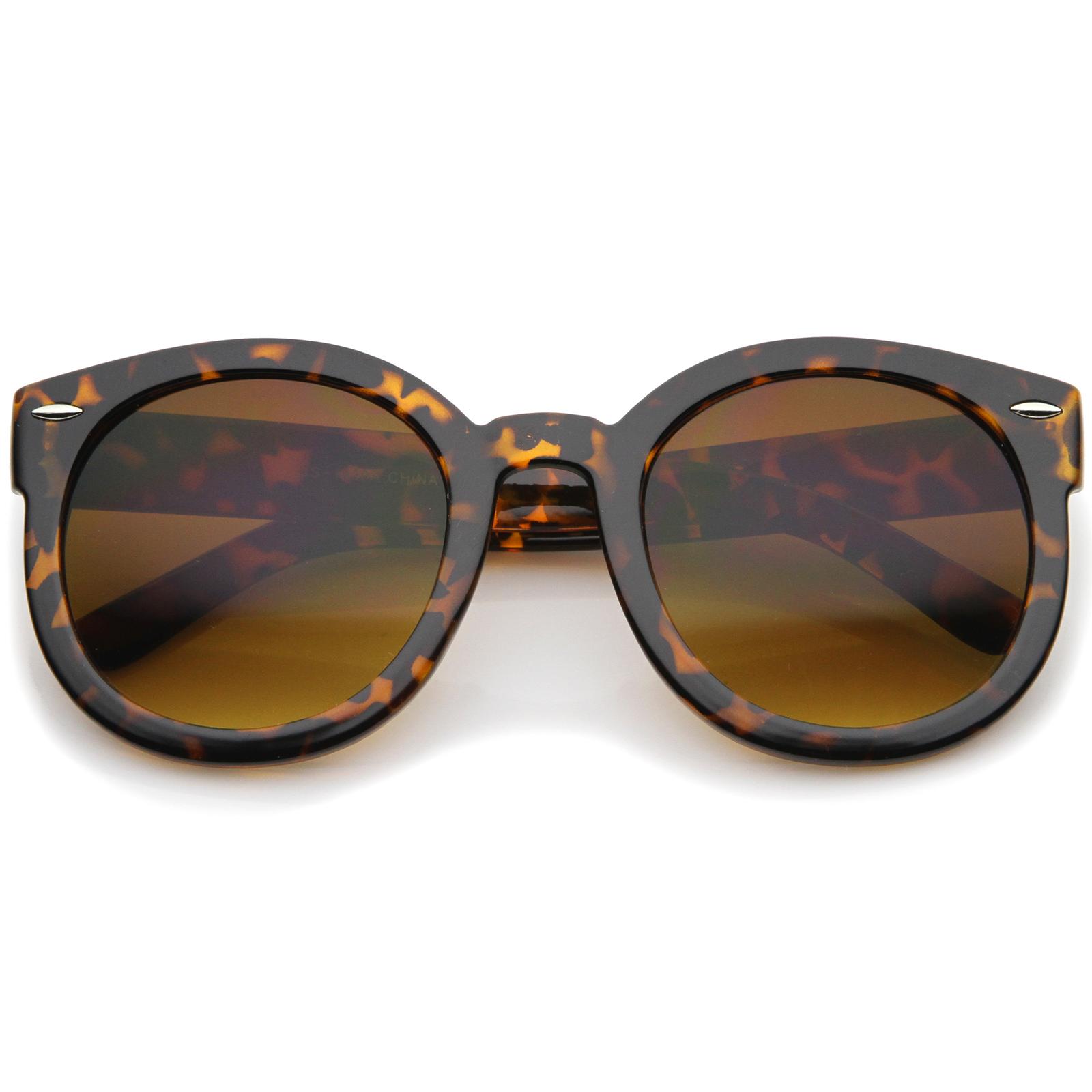 sunglassLA-Women-039-s-Retro-Oversize-Horn-Rimmed-P3-Round-Sunglasses