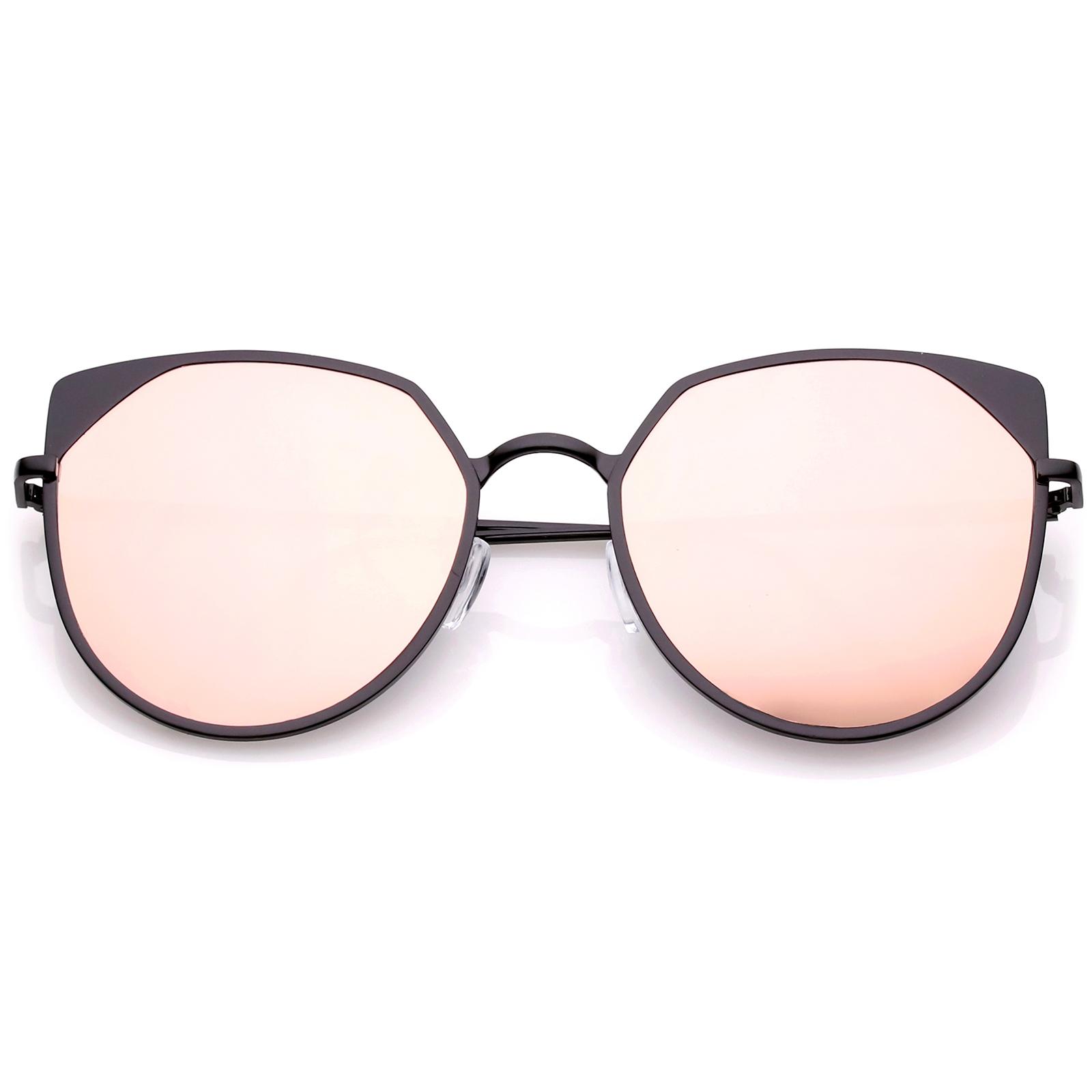 sunglassla berdimensional cat eye sonnenbrille mit pinkfarbener spiegel ebay. Black Bedroom Furniture Sets. Home Design Ideas