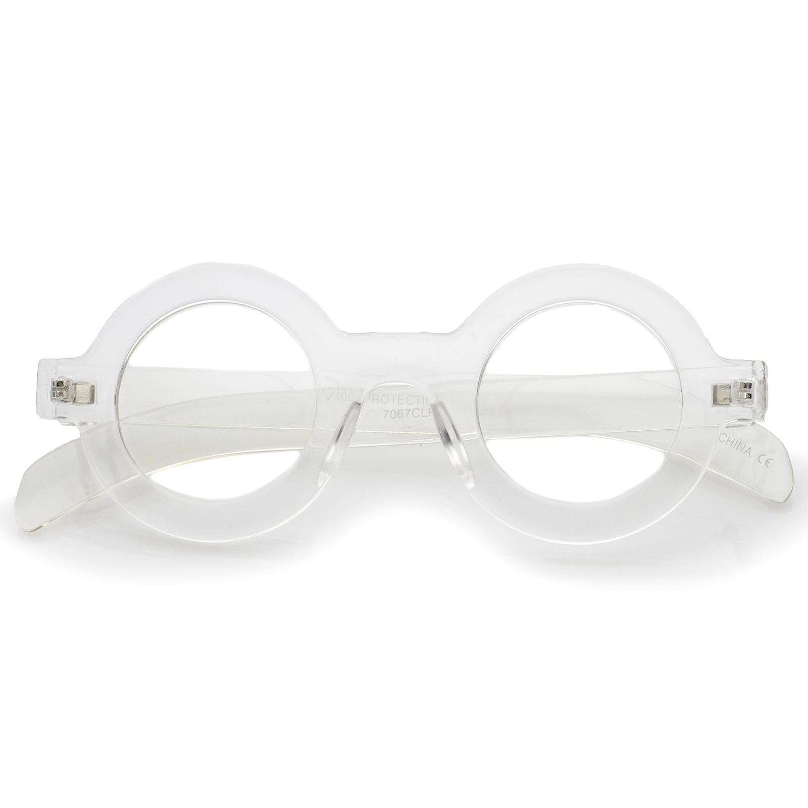 sunglassla Bold Grueso Marco Plano Lente Transparente Redondo Gafas ...